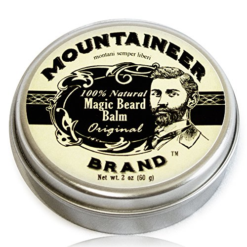 Magic Beard Balm by Mountaineer Brand: All Natural Beard Conditioning Balm (Orig…
