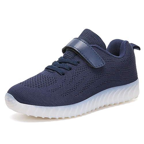 e0ea6c23fdb ByBetty Unisex Niños Zapatillas LED USB Carga para los Niños y los  Adolescentes 7 Colores  Amazon.es  Zapatos y complementos