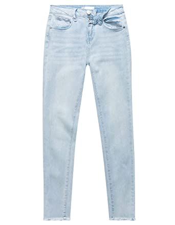 bc339716afd Amazon.com  RSQ Cali High Rise Crop Light Wash Girls Skinny Jeans ...