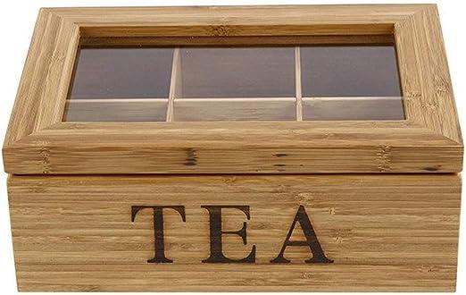 Bamboo King – Exquisita Caja para té de bambú 100% Natural de 5 ...