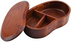 Japanese Bento Box - Natural Wooden Bento Boxes Lunch Box Sushi box tableware bowl Food Container For Kids Adult Picnicking Office School Hiking Camping