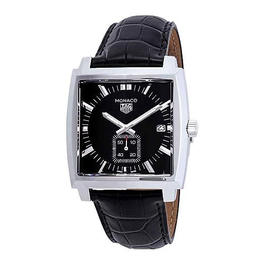 Tag Heuer - RELOJ TAG HEUER MONRD CRZO DA ACERO ES NEGRO PU CA - WAW131A.FC6177: Amazon.es: Relojes