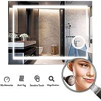 LUVODI Espejo de Baño Pared con Iluminación LED