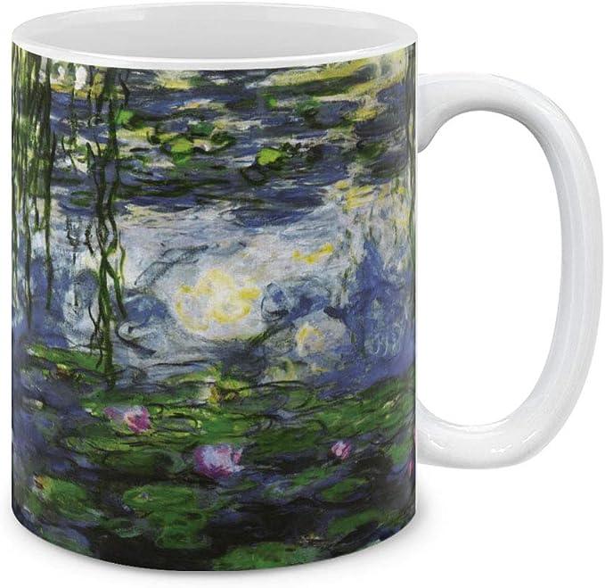Claude Monet Impressionism Art Gifts Vase with Peonies 11oz Dark Pink Coffee Cup