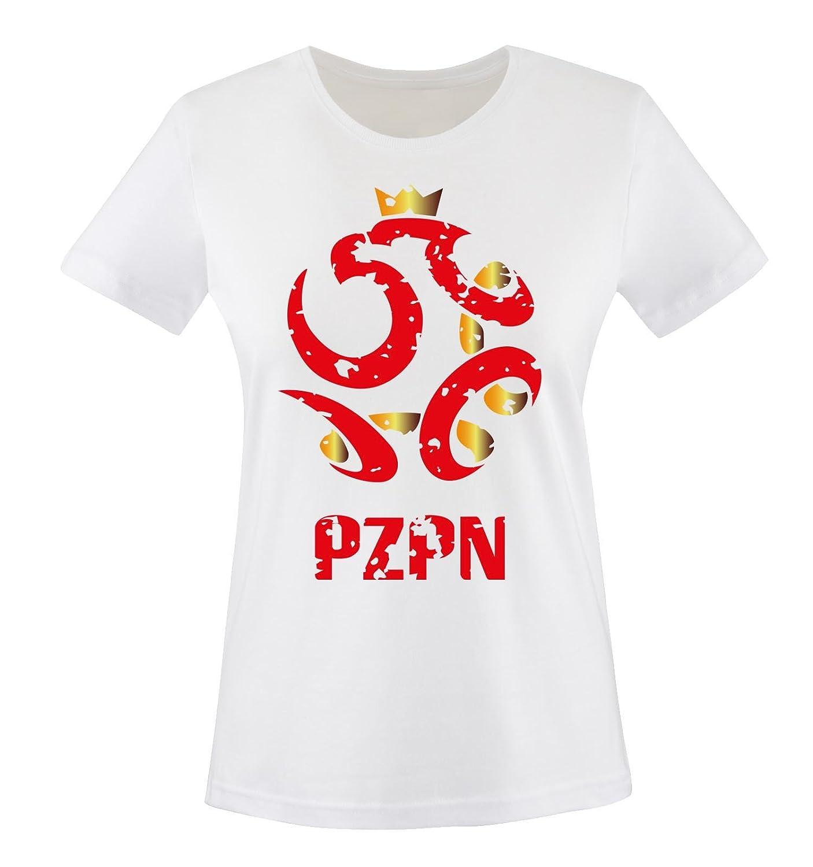 EM 2016 | Polen | Wappen | Vintage - Damen T-Shirt Comedy Shirts