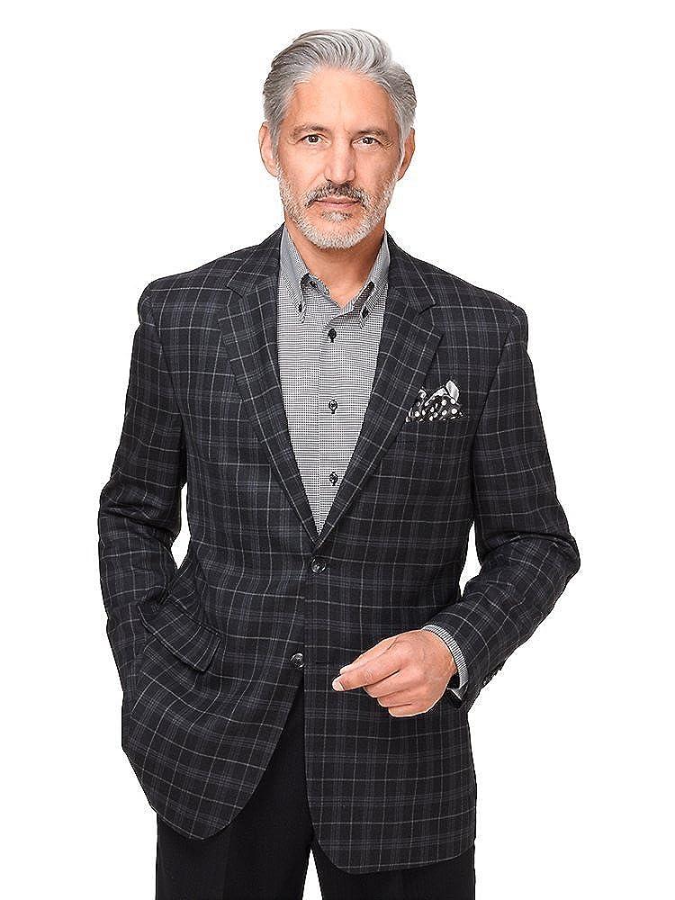 Paul Fredrick Men's Wool Plaid Notch Lapel Sport Coat JFN140W000000