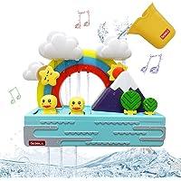 SEDOLA Bath Toys,Educational Bathtub Water Toy with Music and Light,Cute Duck and Rainbow Bathroom Toy,Shower Bath Baby…