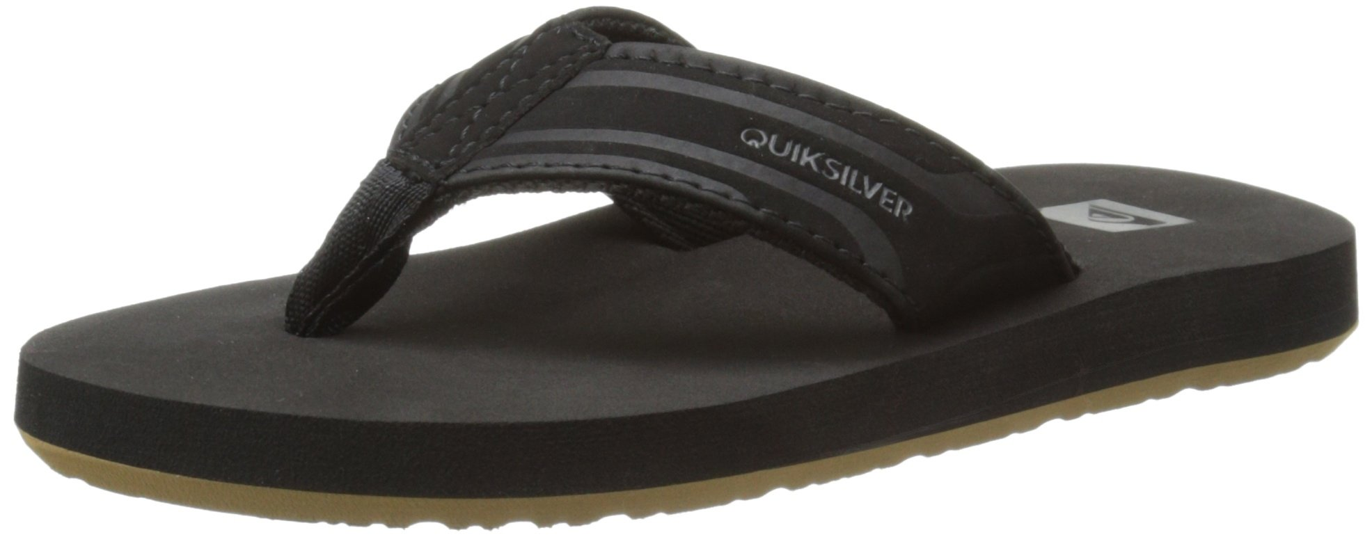 Quiksilver Monkey Wrench Youth Sandal (Toddler/Little Kid/Big Kid), Black/Black/Brown, 10 M US Toddler