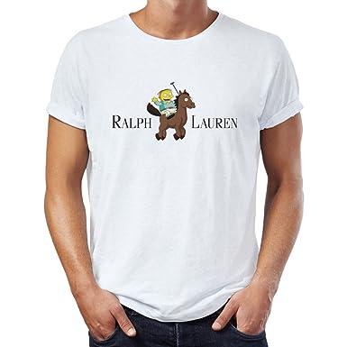 Ralph Lauren Funny Cartoon Men s T-Shirt XX-Large  Amazon.fr ... 575b48b741b4