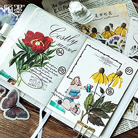 Nature Collection Plant Butterfly Flamingo Gilding Decorative Washi Stickers Scrapbooking Album Stick Label Diary Stationery 5 UltimaFio