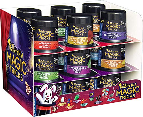 Thames & Kosmos Rabbit's Hat Magic Tricks - 18 Portable Mini Magic Kit Gift Set -