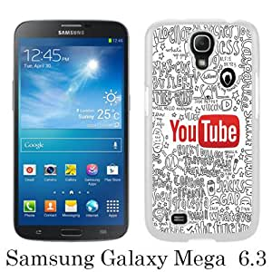 Samsung Mega 6.3 Phone Case,The Youtubers Collage Quotes White Pattern Cool Design Samsung Galaxy Mega 6.3 Cover Case