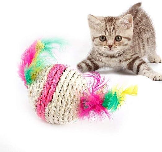 Pelota de sisal para gatos, juguetes para gatos, juguetes para ...
