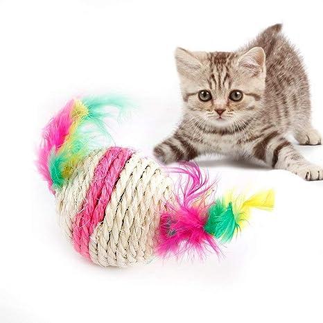 Pelota de sisal para gatos, juguetes para gatos, juguetes para mascotas, juguetes,