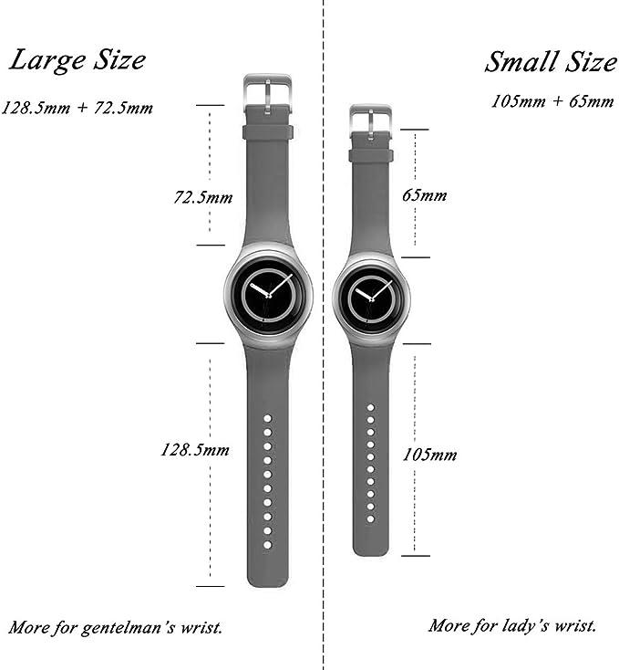 SM-730 R730 Bande de Rechange de Montre iFeeker pour Samsung Gear S2 SM-R720 Accessoires Petite Taille en Silicone Doux Bracelet Smartwatch Band Design commun pour Samsung Galaxy Gear S2 SM-720