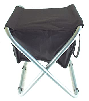 Peak Durable Portable Folding Camp Stool With Soft Cooler. Steel Frame  Holds 250 Lbs.