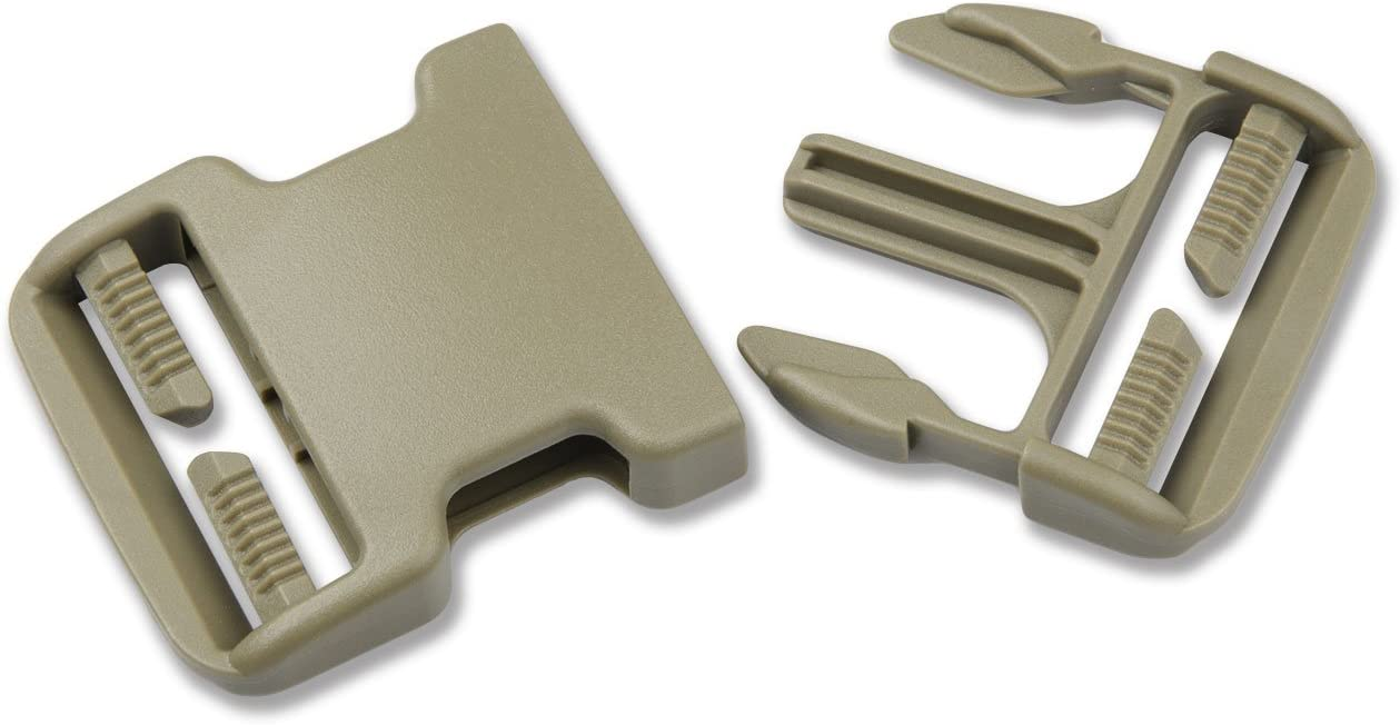 DYZD Multi-Size Plastic Buckle Repair Kit Quick Release Buckles No Sewing Required Buckles for Backpack Bag 2pcs Khaki,25 mm