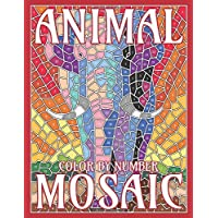 Animal Mosaic Color by Number: Activity Puzzle Coloring Book for Adults Relaxation & Stress Relief: Volume 1