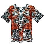 Vipada Handmade Dashiki Shirt African Tunic Unisex Top Men & Women(Orange) …