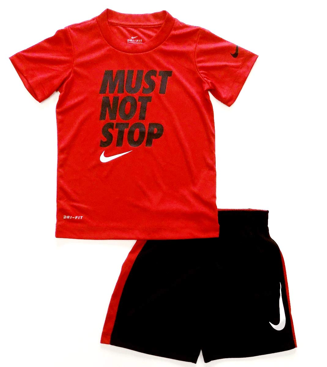 Nike Toddler Boys Must Not Stop Short Set - Red/Black (4T)