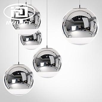 Injuicy Lighting Tom Dixon Modernen E27 LED Glas Kugel Pendelleuchten Hngelampe Silber Galvanisieren Deckenleuchte Kronleuchter Hngenden