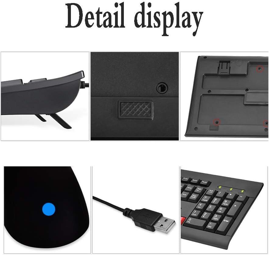 Yan Fei Wired Keyboard and Mouse Set Home Desktop Laptop USB Interface Keyboard Mouse//Waterproof Keyboard Feeling Keyboard