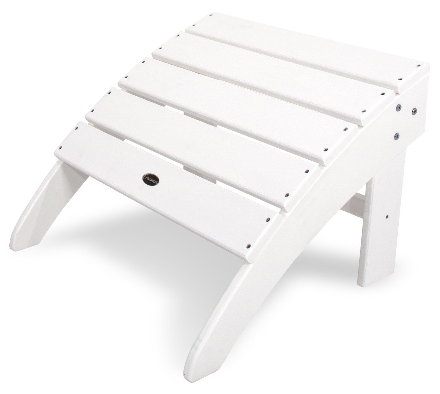 POLYWOOD SBO22WH South Beach Adirondack Ottoman, White by POLYWOOD
