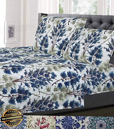 Gatton New Premium 1800 Thread Count Patterns 4 Piece Sheet Sets Floral, Geometric - 5 Styles   LINENIENHM-182012257 Queen ()