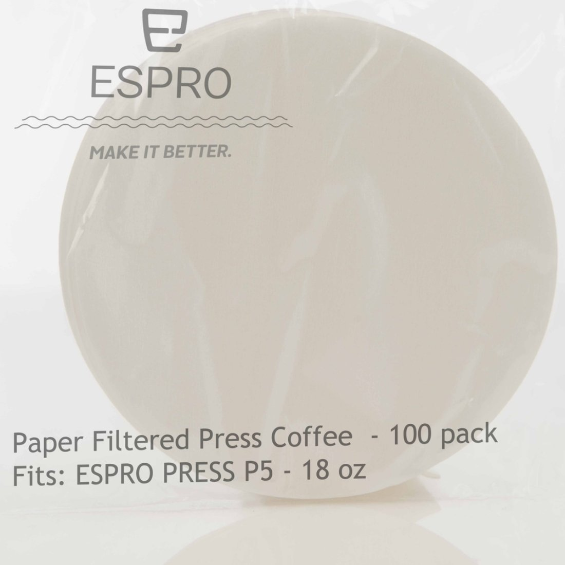 P5 Espro 1018PF-100 100 Paper Coffee Filters and 18 oz P3 Presses fits P7