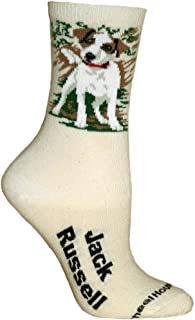 product image for Wheel House Designs Jack Russell Argyle Socks (Shoe size 9-12)
