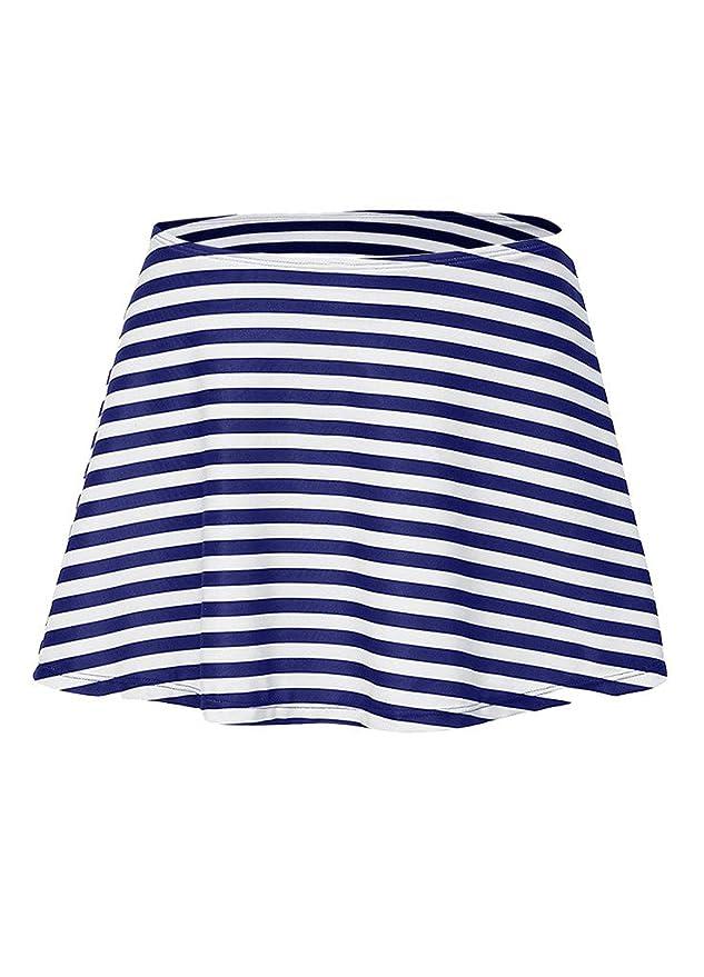 OUO Damen Bikini Rock Baderock mit Integrierter Bikinihosen UV Schutz  Boardshorts: Amazon.de: Sport & Freizeit