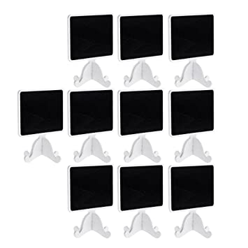 Sharplace 10pcs Mini Pizarras de Madera Número de Tabla para ...