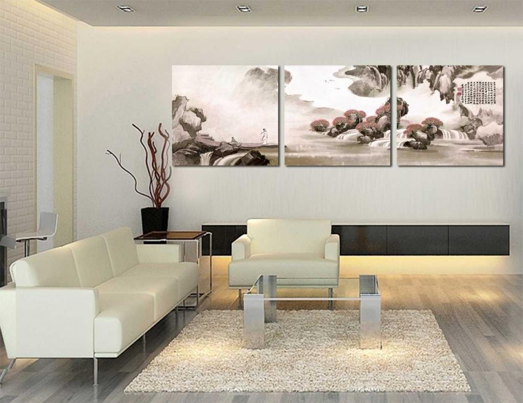 Gallery Canvas Art 3 Piece Oriental Art Landscape Painting Split Canvas  Picture Of Art Wall