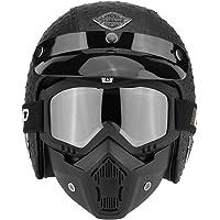Zerone Casco medio para motocicleta, casco abierto