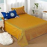 YingYing Home Cotton 3pcs Bed Sheets Pillowcase Modern Fashion Home Textiles Bed Linen Petal Printing Pattern