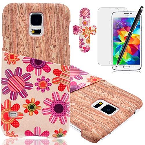 HB-Int 4 x 1 Funda para Protección Gota y Choque Absorción Funda de Parachoques,Funda para Samsung Galaxy S5,Caja del Teléfono para Samsung Galaxy S5 Parachoques, Borde Los Casos de Teléfonos Celulare