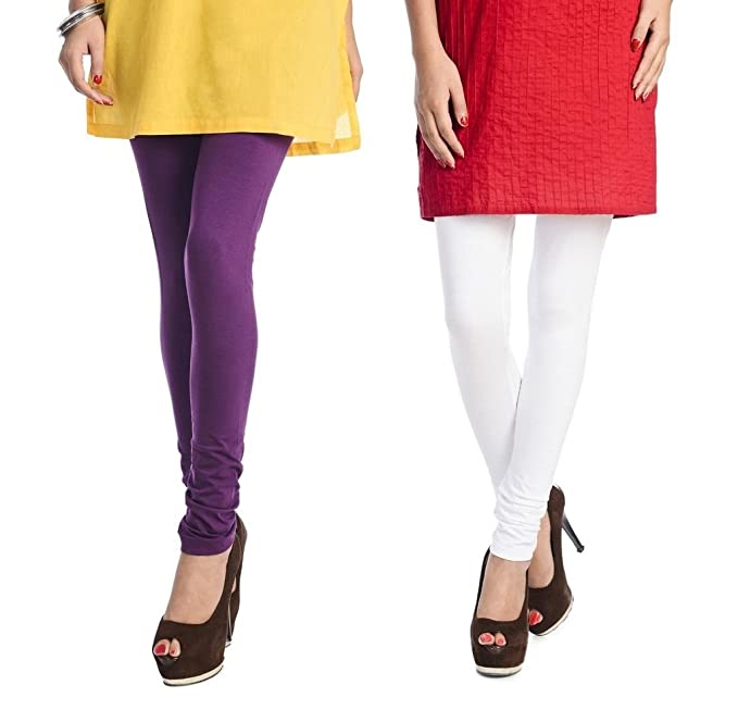 37397b984ade69 Rupa Softline Violet and White Cotton Leggings Combo (Pack Of 2): Amazon.in:  Clothing & Accessories