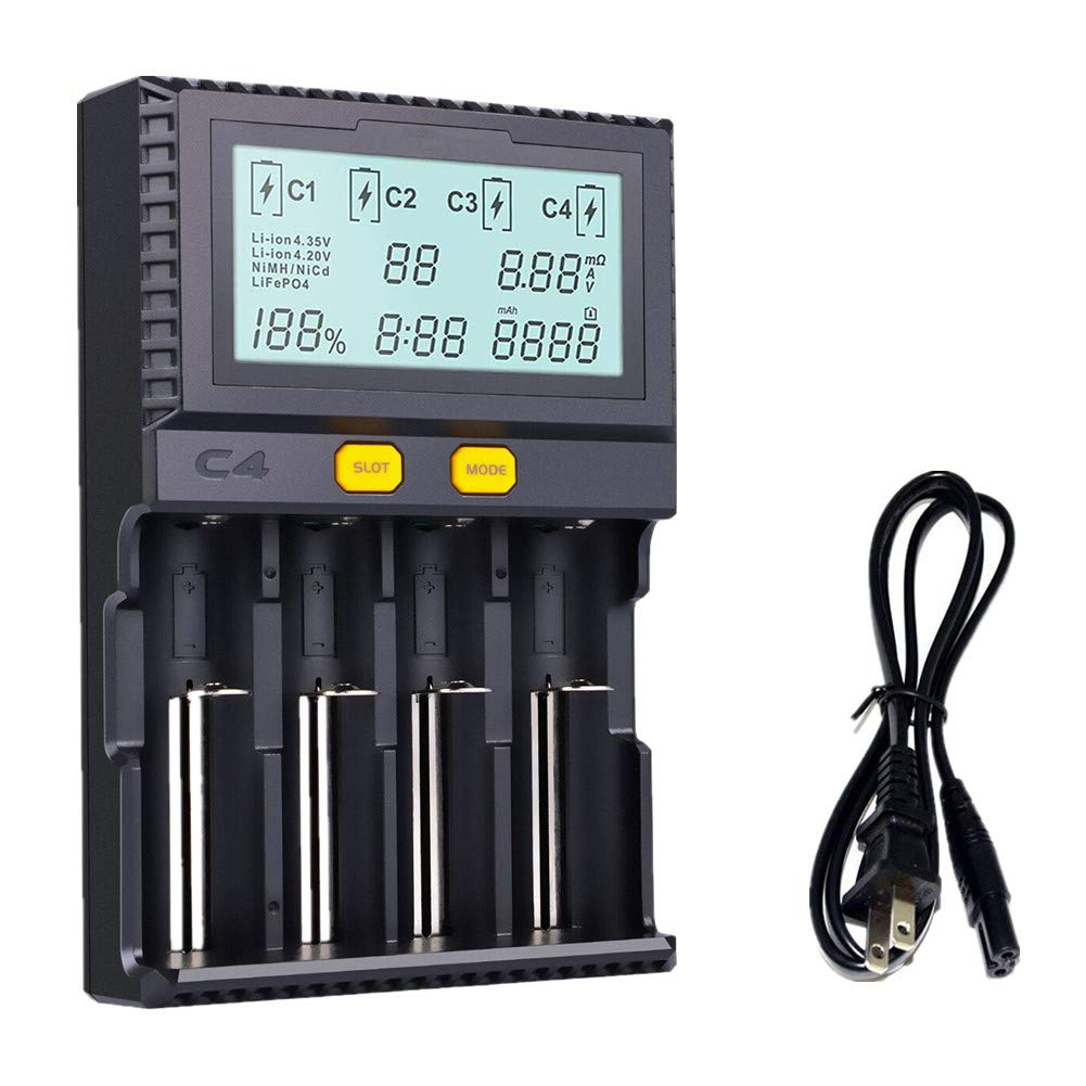 Kinden 18650 Smart Battery Charger Universal Intelligent Simple Nicd Electronic Circuits 4 Slot Automatic Lcd Display For Li Ion Lifepo4 Ni Mh Cd Aa Aaa C 26650 18350 17670