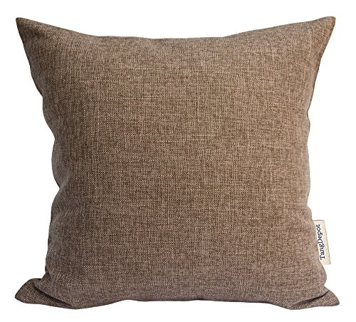 TangDepot Heavy Lined Linen Cushion Cover, Throw Pillow Cover, Euro Shams, European Throw Pillow Covers, Indoor/Outdoor - (28