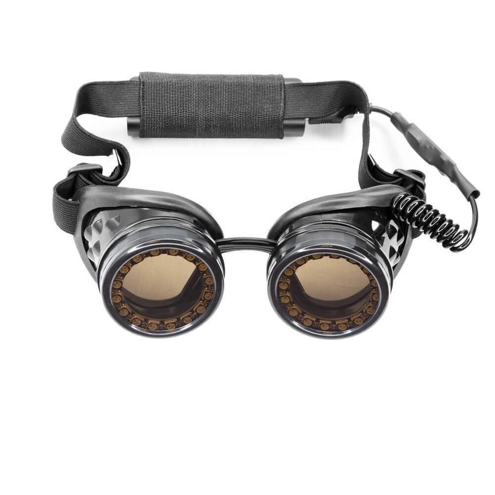 GloFX LED Pixel Pro Goggles [350+ Epic Modes] - Programmable Rechargeable Light Up EDM Festival Rave Party Sunglasses by GloFX (Image #7)