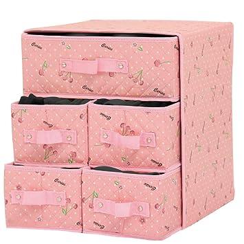 Storage Box Bolsa de Almacenamiento de Ropa Interior, Caja de Almacenamiento multifunción con cajón,