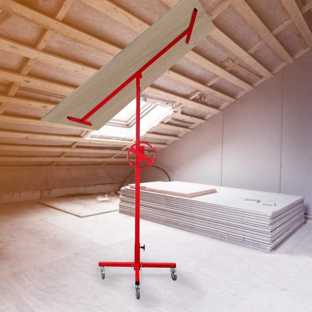 Soporte de Montaje para Techo y Pared 40 kg de Carga 167-290 cm de Altura de Trabajo Elevador de Placas Elevador Plegable