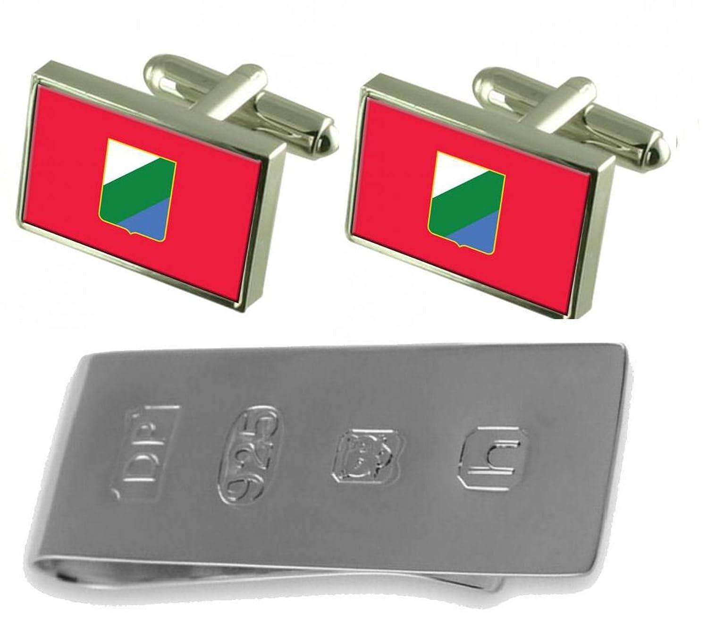 アブルッツォイタリア国旗カフスボタン&ジェームズボンドお金クリップ B077WZQLC1