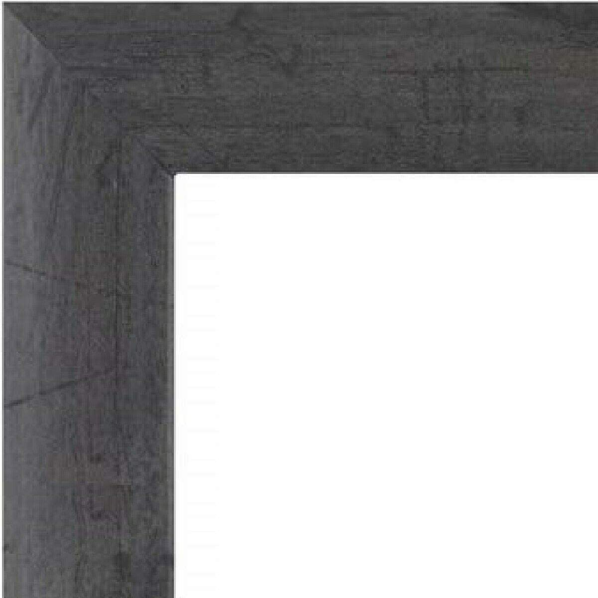 US Art Frames 13x19-Inch Picture Frame, Distressed Barnwood Finish, 1 Inch Wide Nugget Moulding, Grey Wood Composite MDF Wall Decor Poster Frame