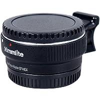 Commlite Auto CM-EF-NEX Adaptador de montaje de objetivo con montura de Canon EF objetivo a Sony NEX 3/3N/5N/5R/7/A7 A7R marco completo, Color negro