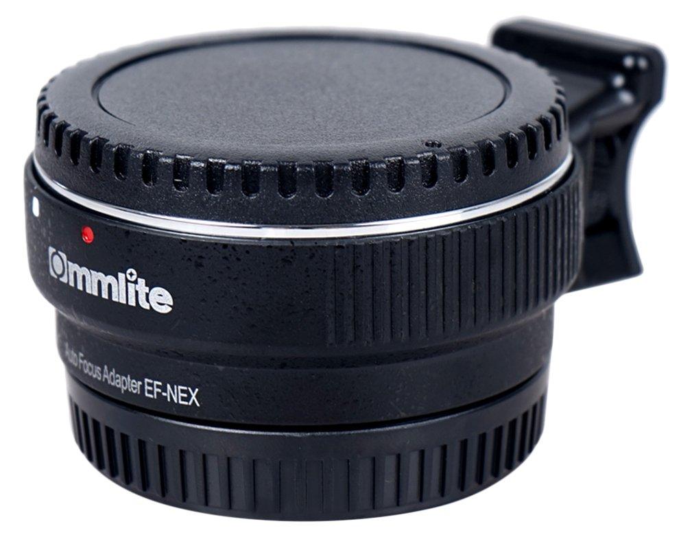 Autofocus Commlite EF-NEX EF-EMOUNT FX, adaptador de soporte de lente para lente Canon EF EF-S y Sony E Mount NEX 3/3N/5N/5R/7/A7 A7R de marco completo, color negro niceeshop CM-EF-NEX B