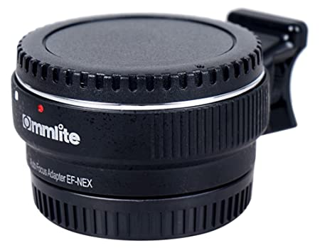 Commlite CM-EF-NEX B Auto Focus Mount Adapter for Canon EF to Sony NEX (Black) Lens Flash Adapters & Converters at amazon