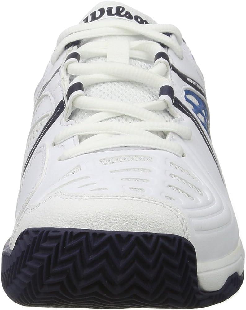 Pour tout type de terrain TOUR VISION V Id/éal pour les joueurs de tous niveaux Tissu Synth/étique Wilson Homme Chaussures de Tennis