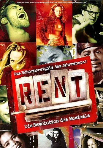 Rent - The Musical 2002 - Poster, Concertposter, ()