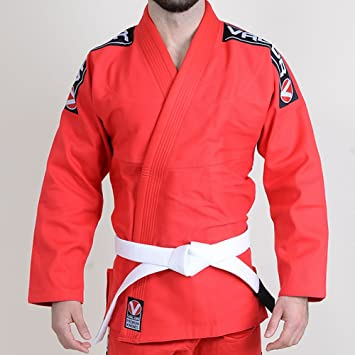 Amazon.com: Valor Bravura BJJ Gi, color rojo, A3: Clothing